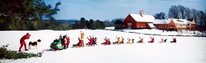 Snow sled train 1969, Ozzie Sweet