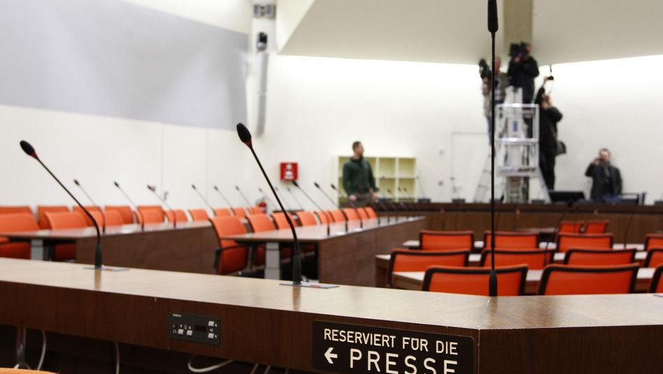 The Munich courtroom where the trial is to be held.