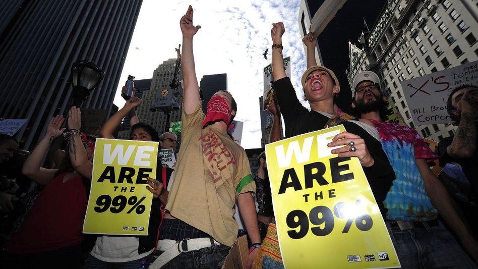 Demonstranten in New York: Schwappt die Welle nach Deutschland?