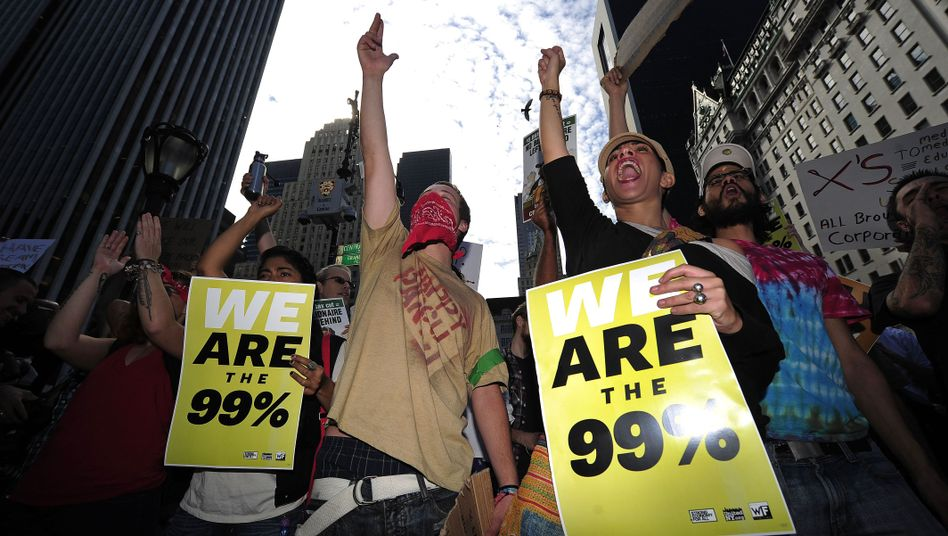 Protesters on Wall Street in New York: Will the movement cross the Atlantic to Europe?