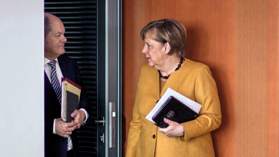 Olaf Scholz, Merkel Angel