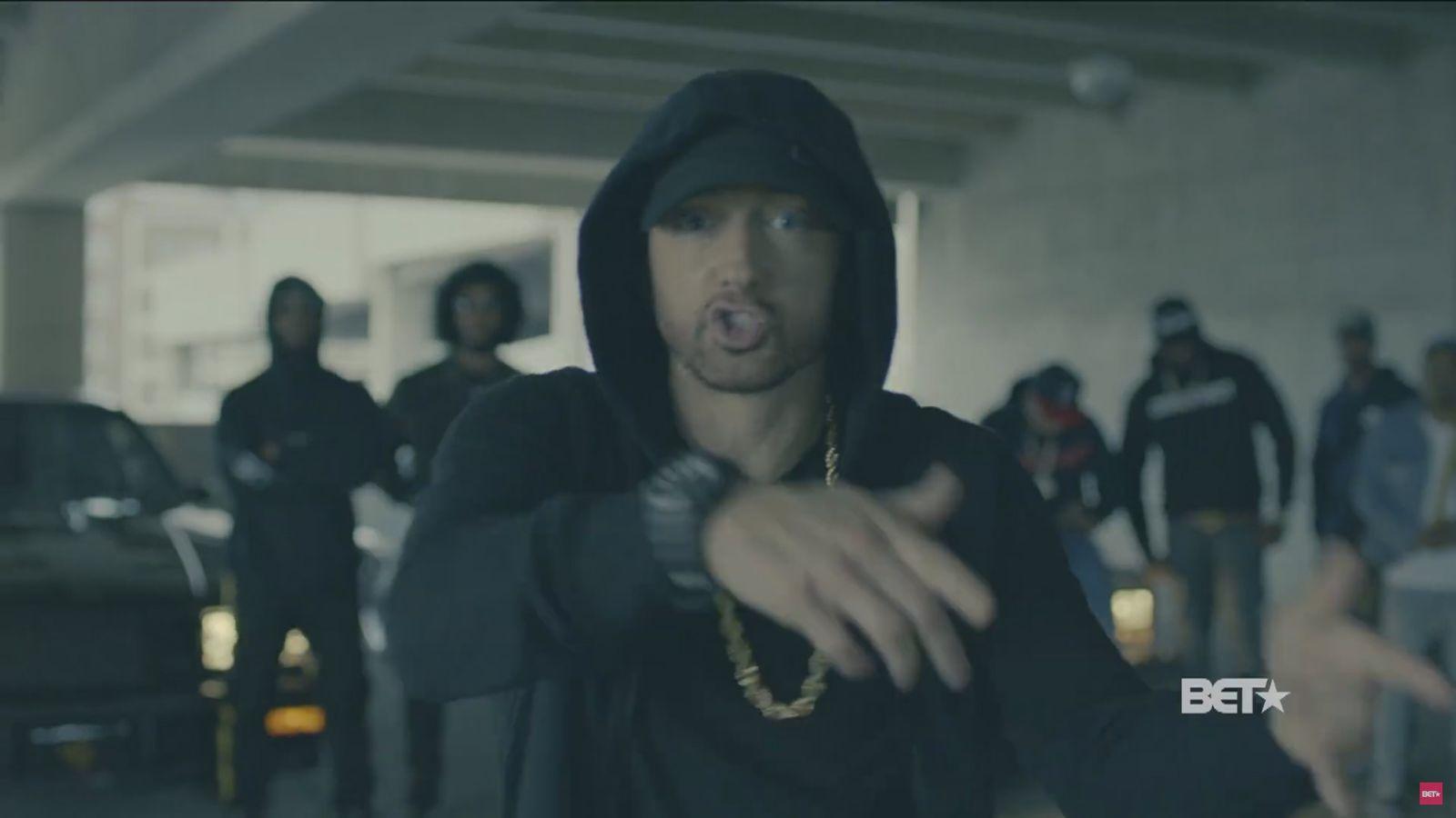 EINMALIGE VERWENDUNG NUR ALS ZITAT Eminem/ Trump