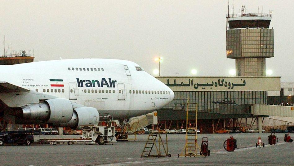 Iranische Boeing 747 in Teheran (Archivbild): Ersatzteillieferungen ausdrücklich erlaubt