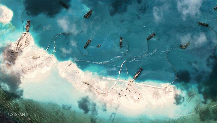 Satellitenbilder: Inselstreit im Südchinesischen Meer