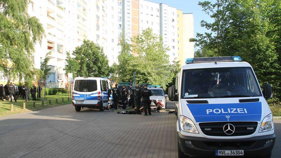 Polizeiaufgebot nach Protest in Groß Klein