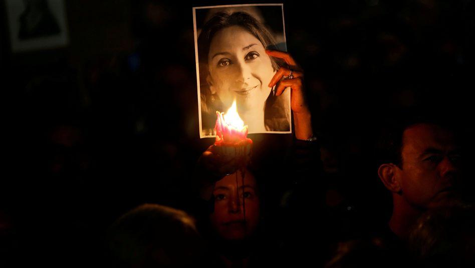 Erinnern an die getötete Journalistin Daphne Caruana Galizia: Europaweites Entsetzen