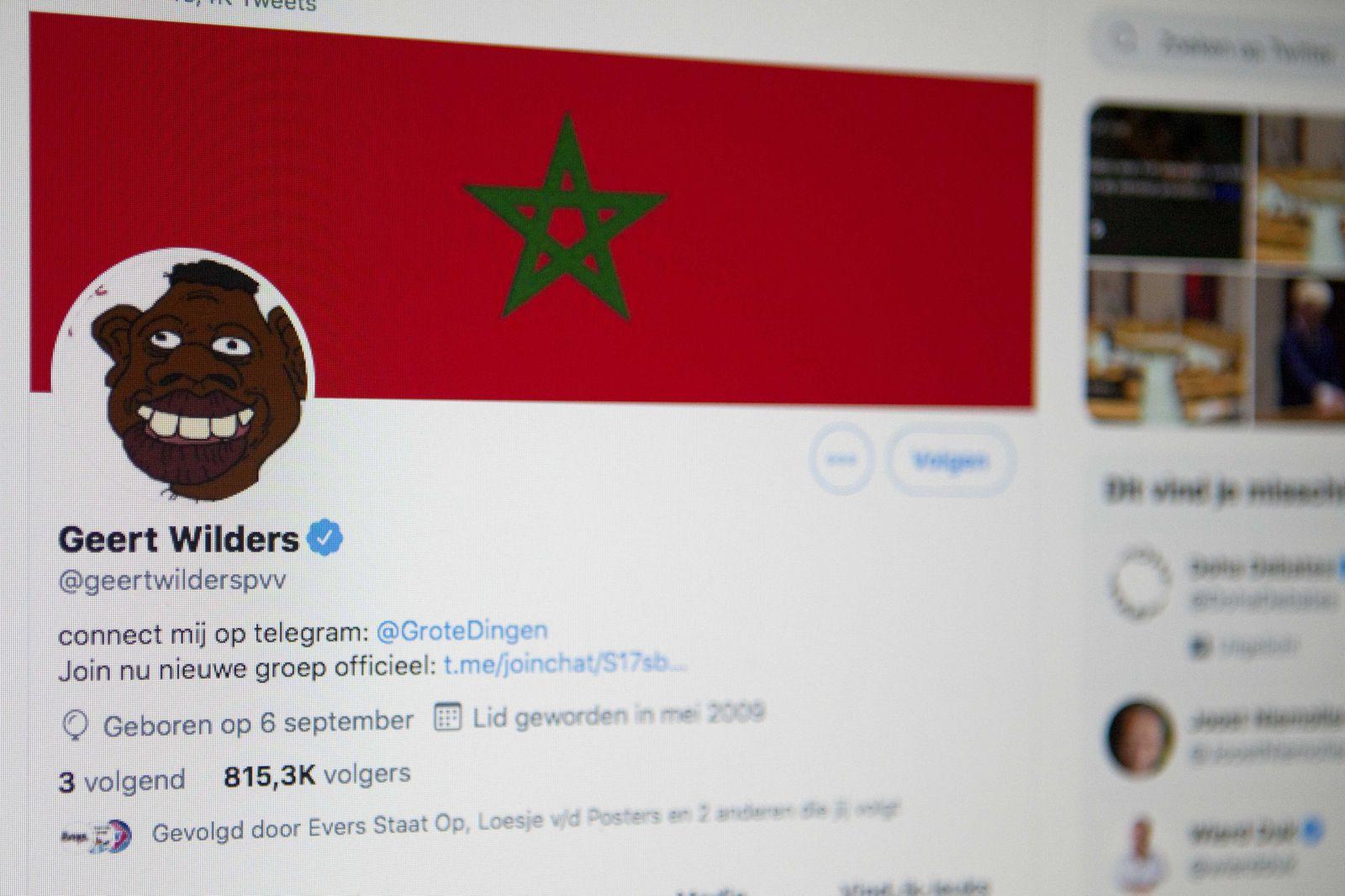 Twitter account Geert Wilders hacked, The Hague, Netherlands - 16 Jul 2020