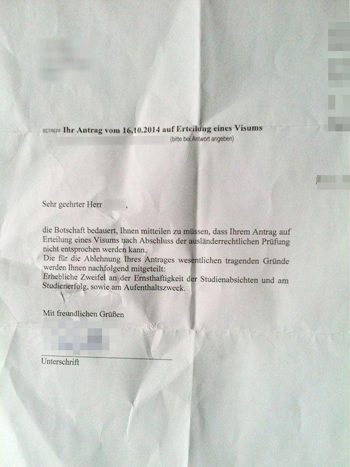 """Absage der deutschen Botschaft in Rabat: """"Erhebliche Zweifel an der Ernsthaftigkeit"""""""