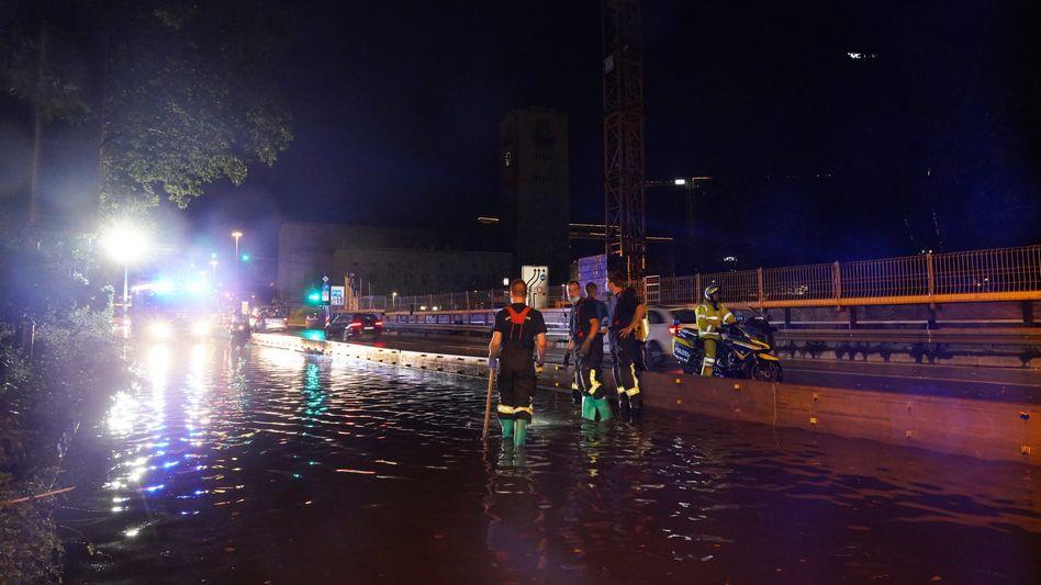 Überschwemmungen am Stuttgarter Hauptbahnhof