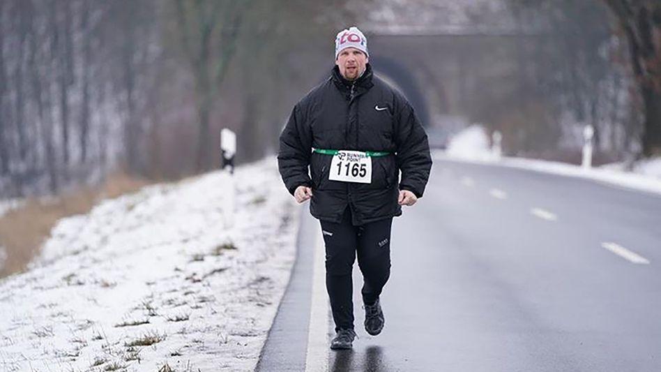 Michael Klotzbier beim Winterlauf in Eichenzell