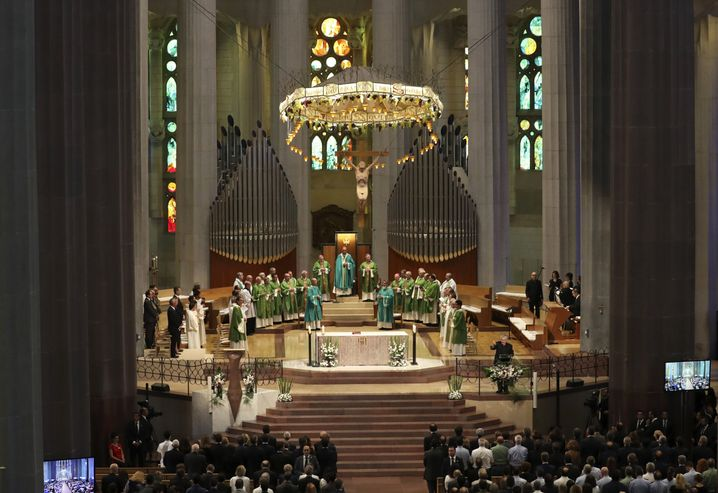 Trauerfeier in der Sagrada Família