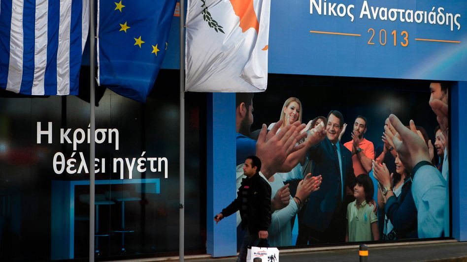 The election campaign in Nicosia: Rich Cypriots and Russians may soon be forced to assist in the country's planned bailout.