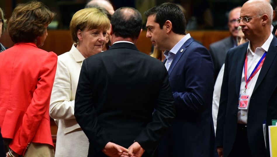 Angela Merkel, François Hollande, Alexis Tsipras: Lange Verhandlungsnacht
