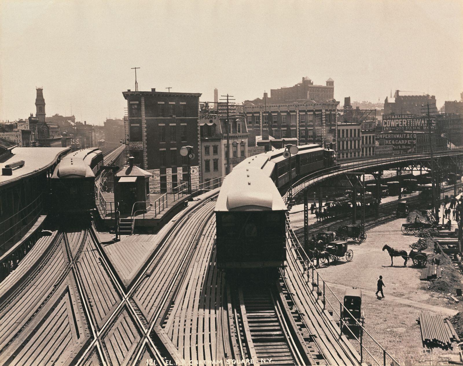 Historische Reisebilder - Hochbahn, Chatham Square