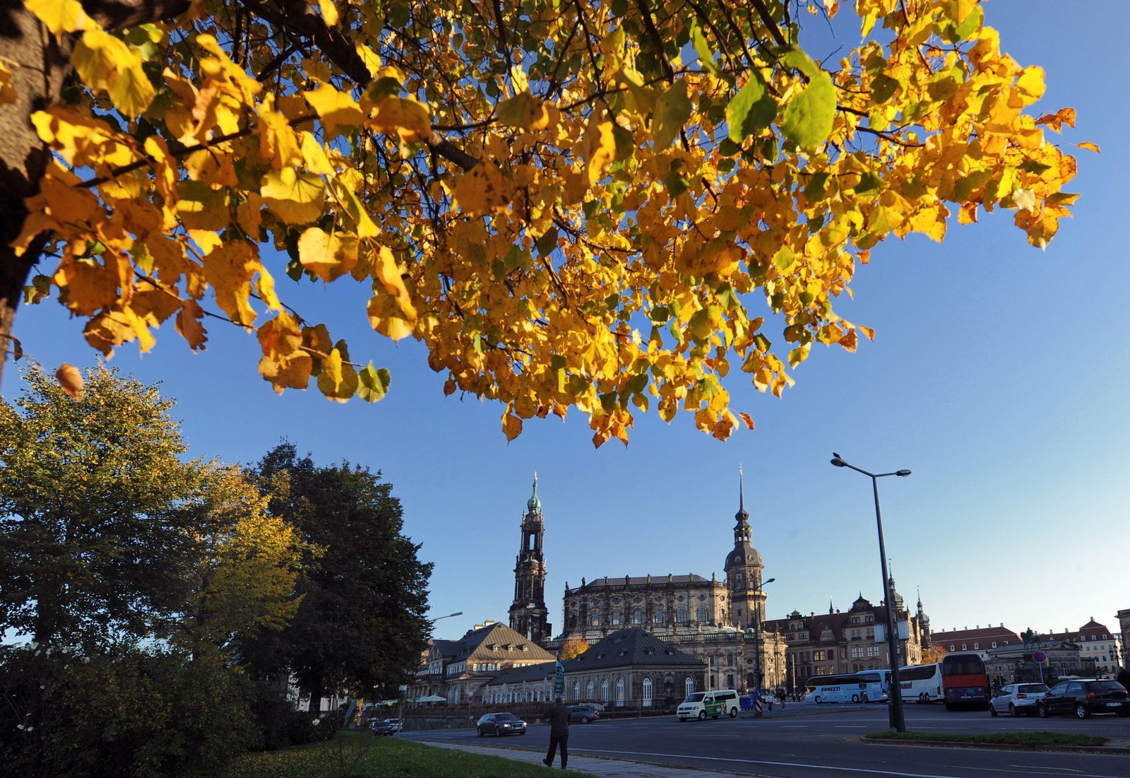 Goldener Herbst in Dresden