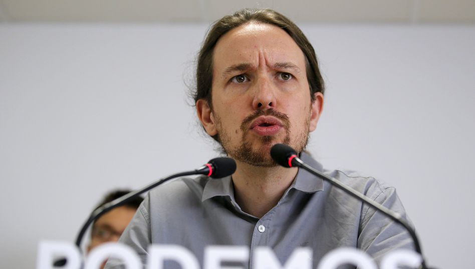 Podemos-Chef Iglesias: Drittstärkste Kraft bei Parlamentswahl