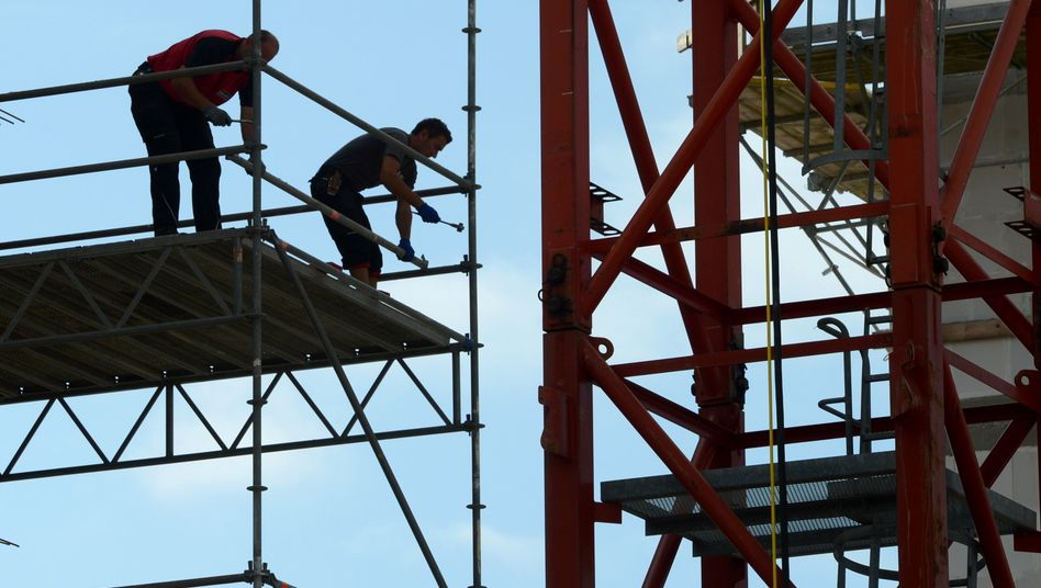 Baustelle in Offenbach: Zahl der Beschäftigten gestiegen