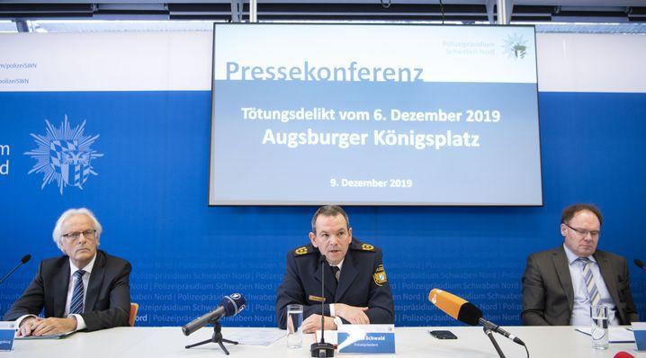 Behördliche Pressekonferenz in Augsburg, 9.12.2019