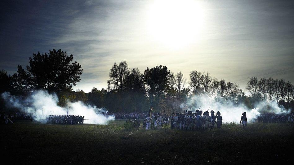 Nachstellung der Völkerschlacht bei Leipzig im Oktober 2012
