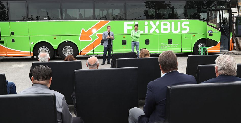 Flixbus-Präsentation in Los Angeles