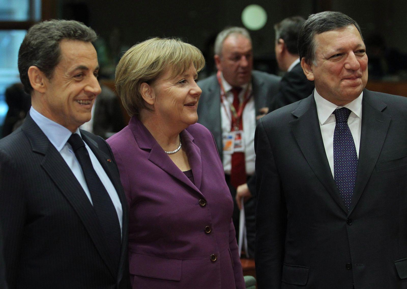 Sarkozy Merkel Barroso