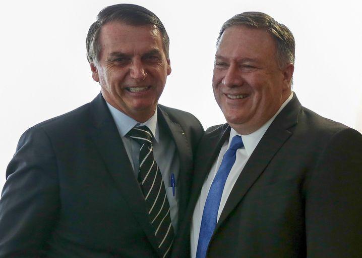 Bolsonaro, US-Außenminister Pompeo