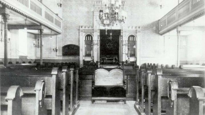 Der ort der Synagoge in Breisach, 1927 und 2018. (Fotos: Förderverein ehem. Jüdisches Gemeindehaus Breisach/David Hans Blum)