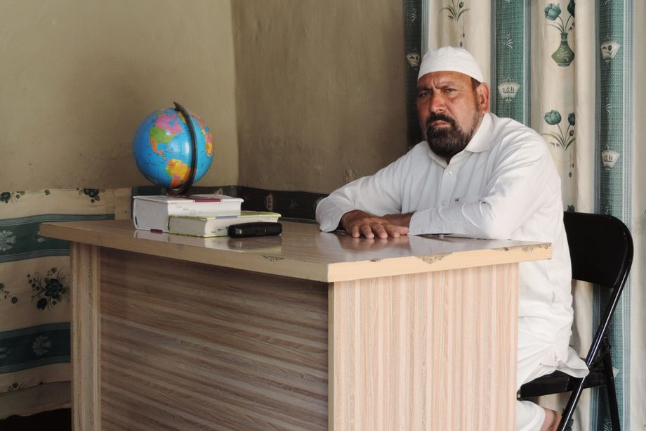 Habib ur-Rahman used to be a pilot in the Afghan army. Now he teaches girls in his living room.