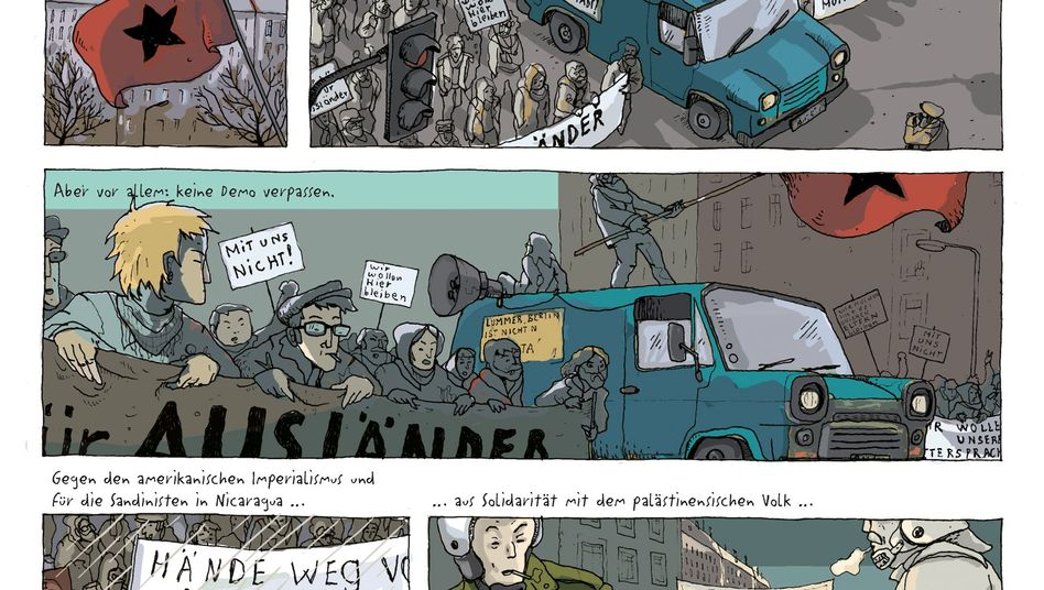 """Graphic Novel """"Gleisdreieck"""": Nostalgischer Blick auf den Kampf gegen den """"Schweinestaat"""""""