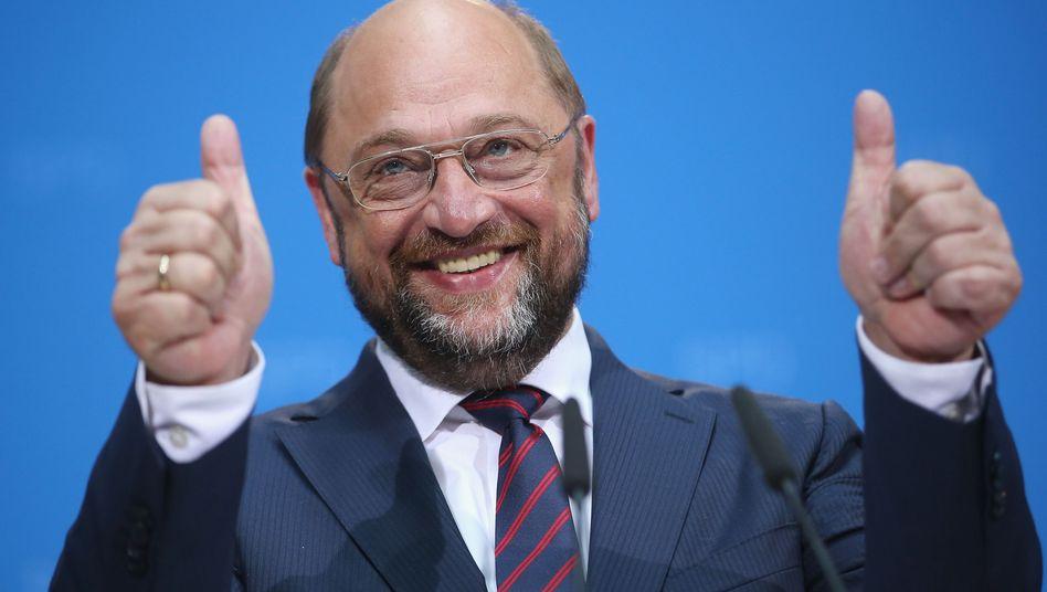 SPD-Kandidat Schulz: Reicht das Ergebnis für den Chefposten?
