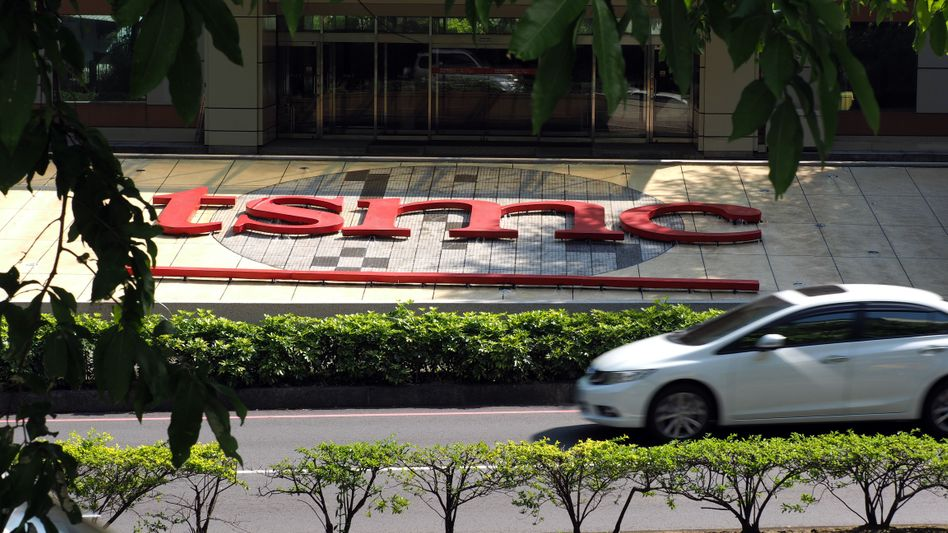 TSMC-Logo in Hsinchu, Taiwan: Deal mit der US-Regierung