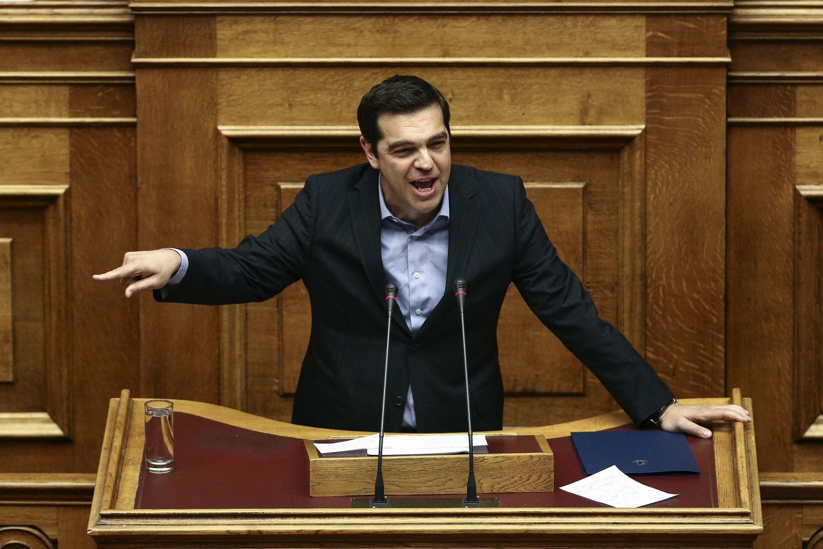 Athen: Tsipras im Parlament