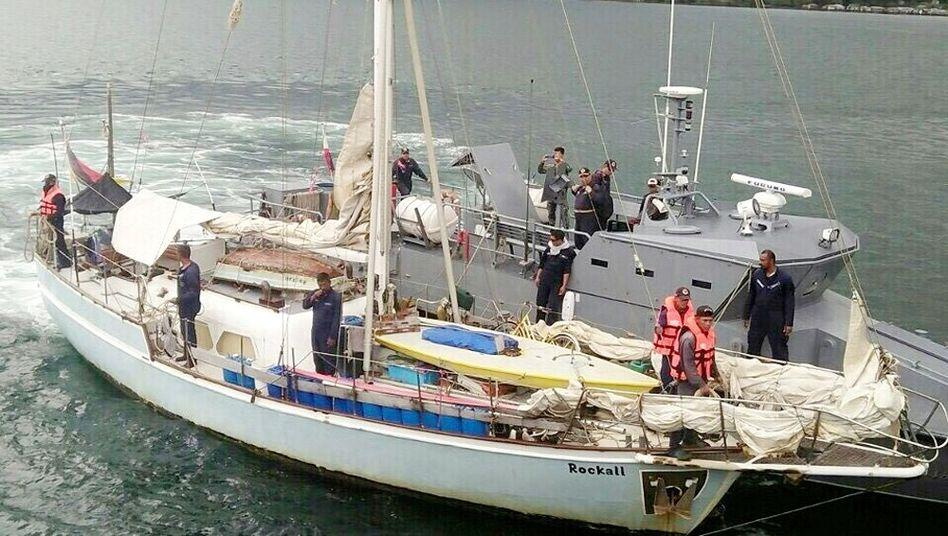 Segelboot des entführten Deutschen, gefunden im November im Süden der Philippinen