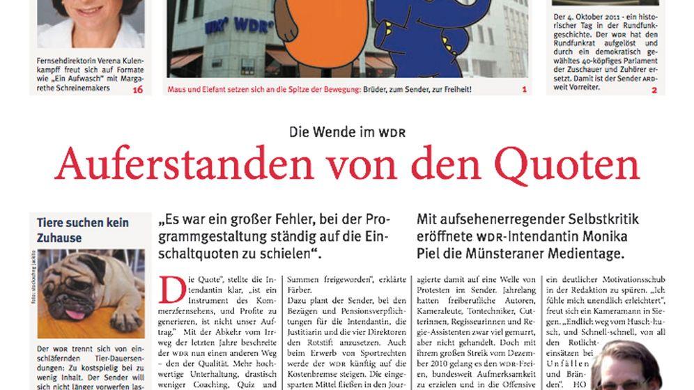 Nachgemachte Hauszeitung: Monika Piehl in Leder