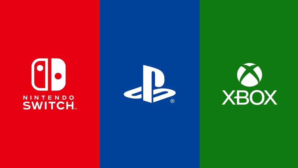 Logos von Switch, Playstation und Xbox: Neue Allianz der Konsolenhersteller