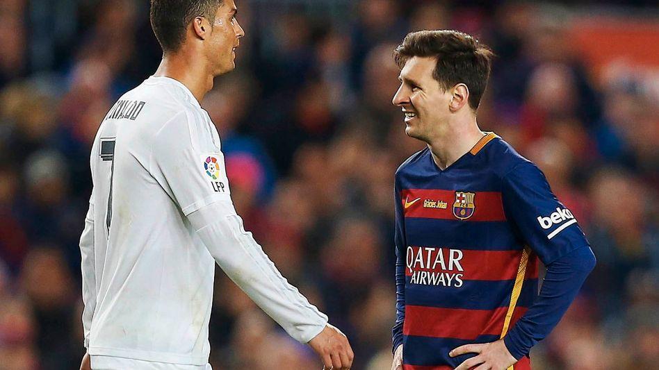 Lionel Messi (r.), Cristiano Ronaldo