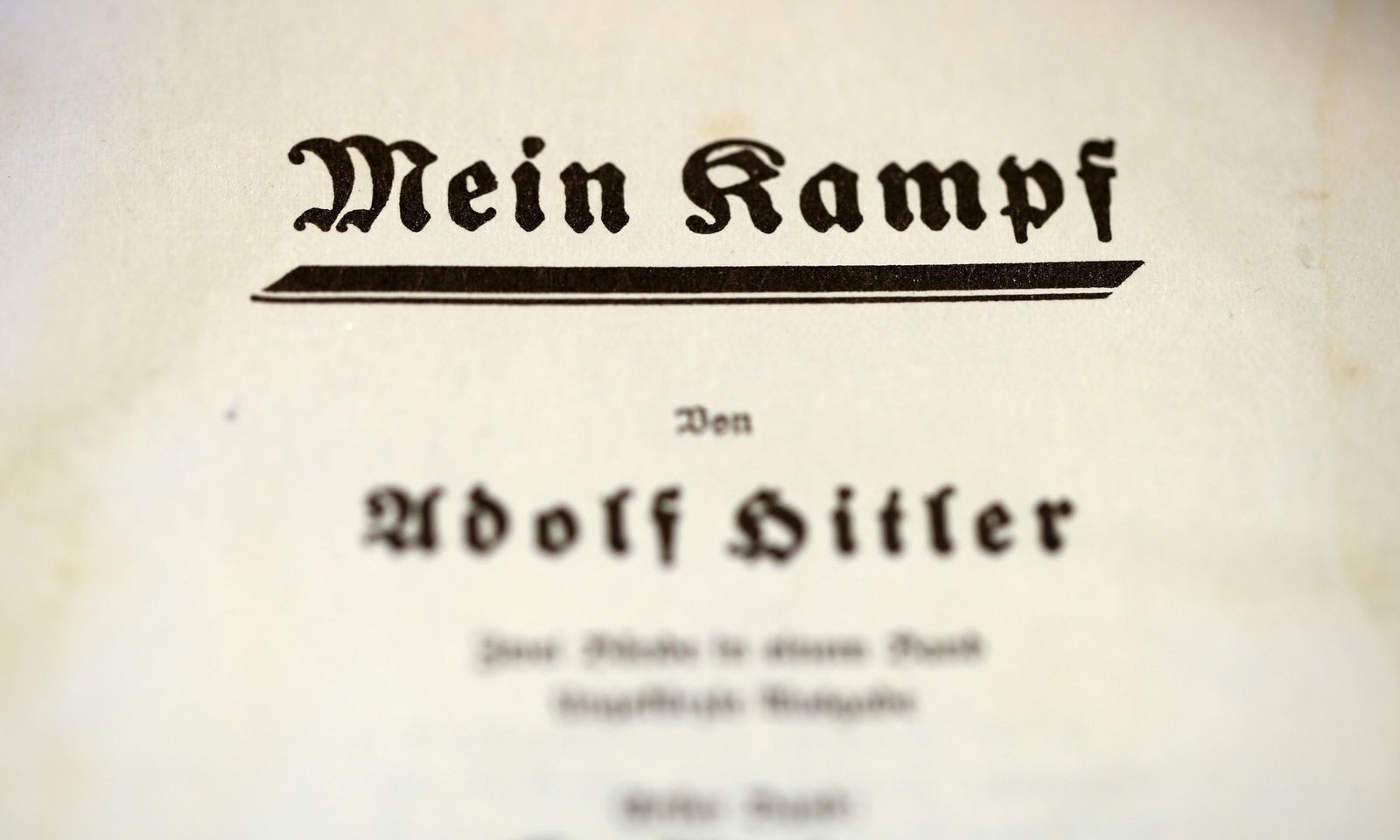 Adolf Hitler/ Mein Kampf