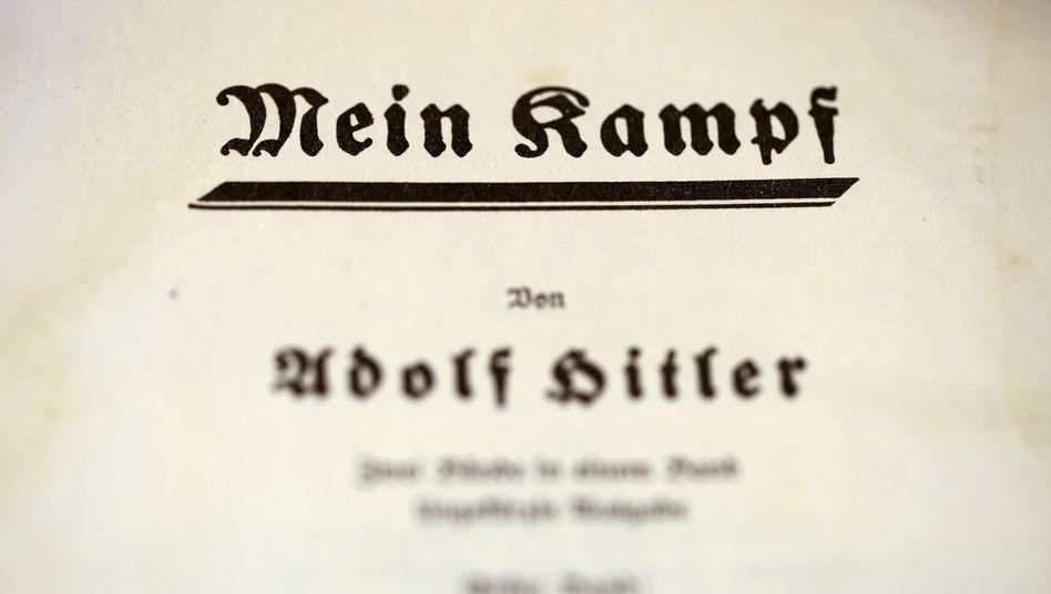 """Die Titelseite von """"Mein Kampf"""""""