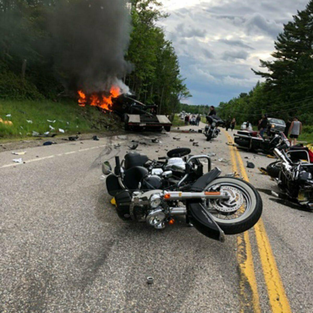 EINMALIGE VERWENDUNG Motorrad/ Unfall/ Truck/ Randolph