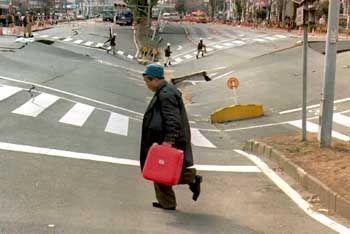 Schäden nach dem Erdbeben von Kobe 1995: Warnung für Tokio