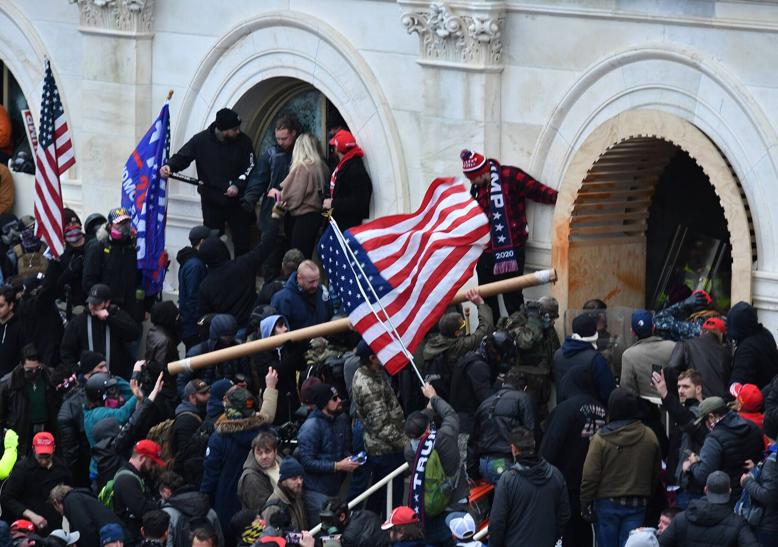 January 6, 2021, Washington, District of Columbia, US: Washington, DC - 010620 As thousands of pro- Trump supporters ral
