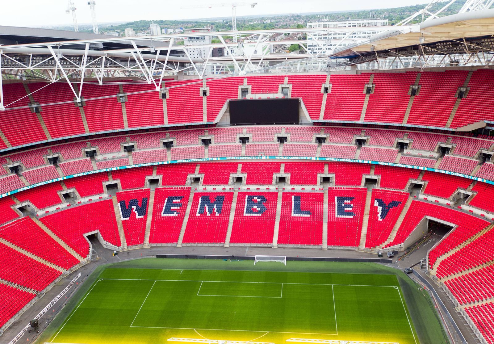 An aerial view of Wembley Stadium London PRESS ASSOCIATION Photo Issue date Tuesday May 23 2017
