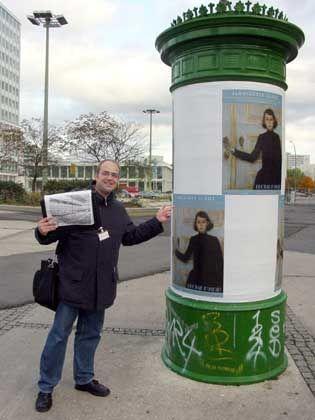 Kreativer Kopf: Peter Eichhorn führt Touristen durch Berlin