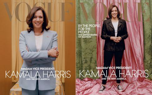 Beide Harris-Titelmotive im Vergleich