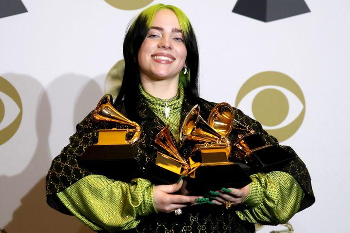 Billie Eilish gewann als erste Frau alle vier Hauptkategorien der Grammys