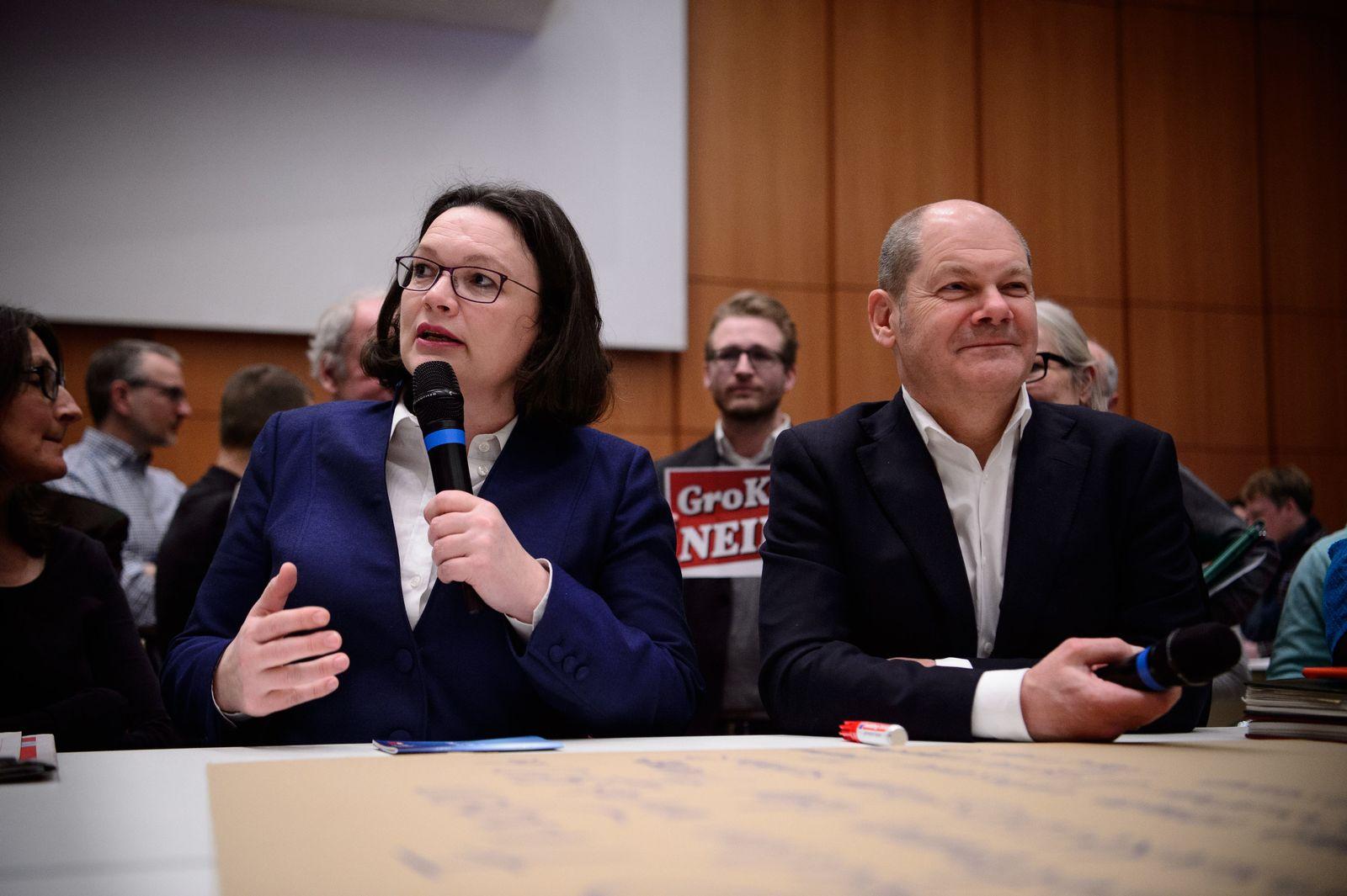 Andrea Nahles/ Olaf Scholz/ SPD-Regionalkonferenz für Baden-Württemberg und Bayern