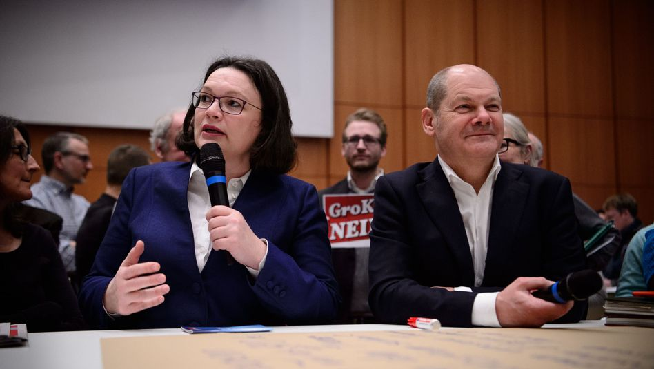 Andrea Nahles, Olaf Scholz