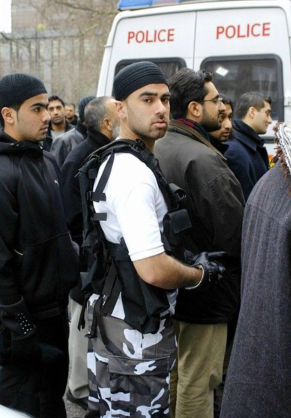 Muslims at a 2006 protest in London: A new study has found that ethnic profiling can be worse than useless when it comes to heading off terror attacks.