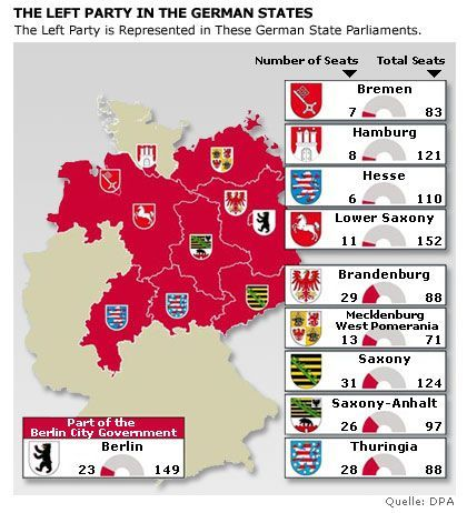 Graphic: Germany's Red States