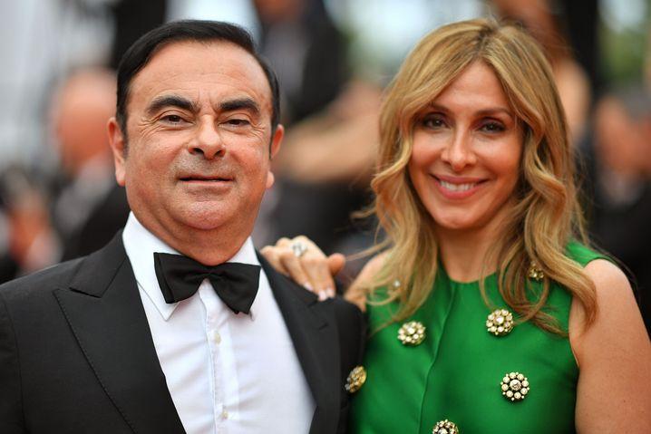 Carlos Ghosn und seine Frau Carole